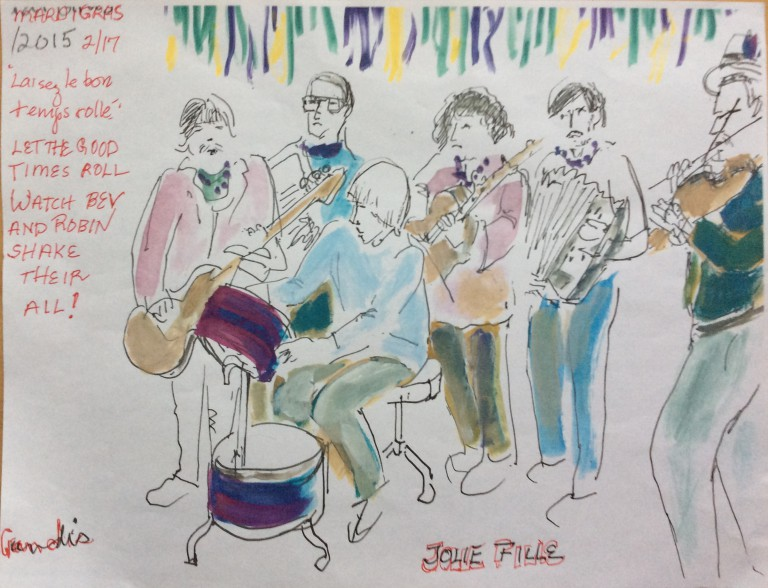 drawing of Jolie Fille Band